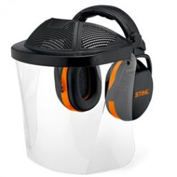 Stihl polycarbonate visor with ear defenders