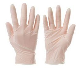 Silverline disposable vinyl gloves 100pk (Medium)