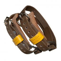 Bashlin ankle straps for climbing spikes