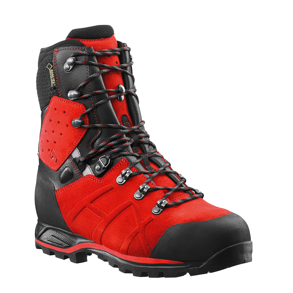 Haix Protector Ultra chainsaw boots (Red)